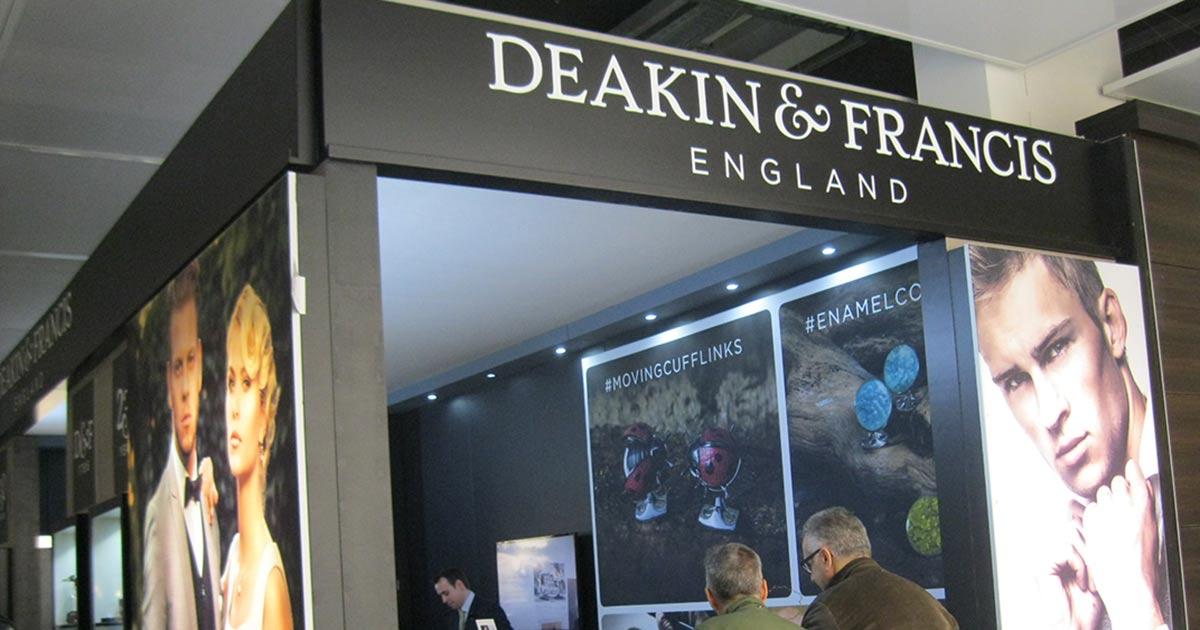 Mit lässigen und außergewöhnlichen Manschettenknöpfen besticht das britische Label Deakin&Francis.
