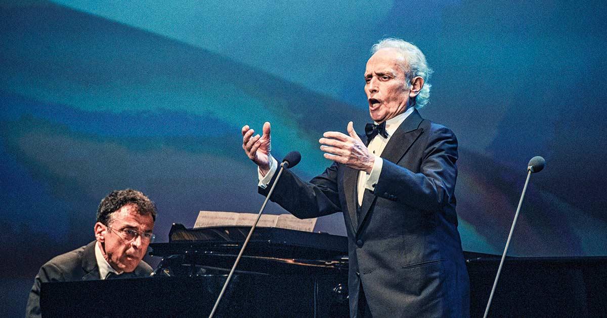 Stimmgewaltiger Stargast: Der bekannte Tenor José Carreras sang sechs Lieder.