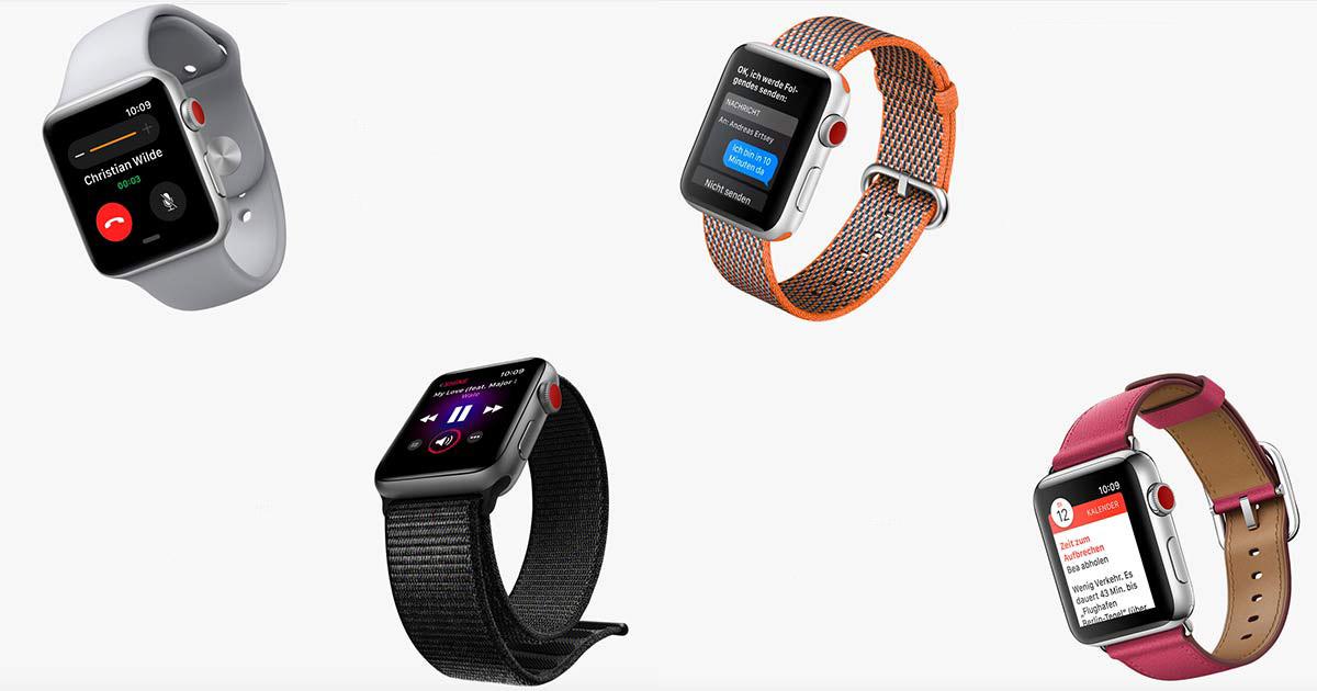 Die neue Apple Watch 3 funktioniert in gewissen Ländern (auch in Deutschland) auch ohne Telefonverbindung.
