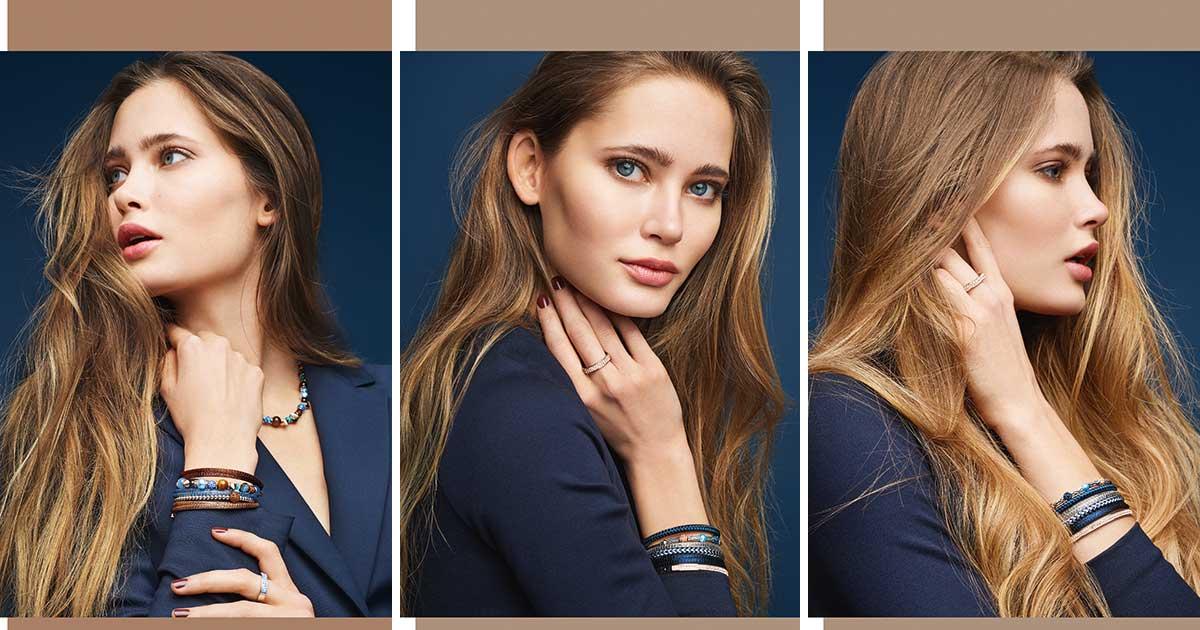 Tochter Greta Eckrodt stand für die Jubiläumskollektion als Model vor der Kamera.