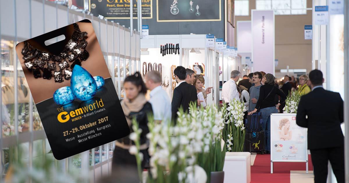 Mit Blickpunkt Juwelier gratis zur Gemworld Munich – Ihr Vorteil als Abonnent!