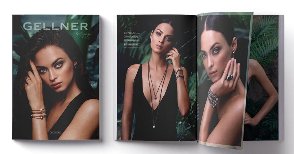 Bei dem neuen Gellner-Magazin sorgt eine starke Bildsprache für Aufmerksamkeit.