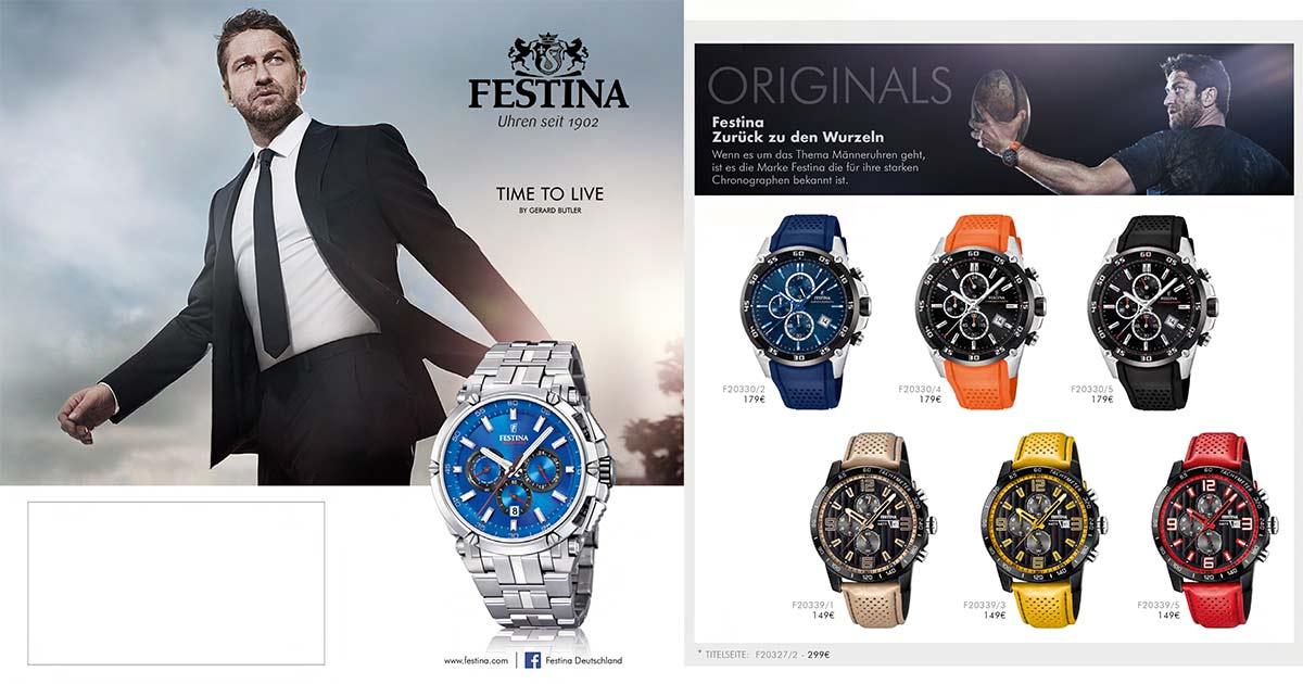 Damit der Fachhandel perfekt unterstützt wird, hat Festina wieder ihren Weihnachtsflyer in petto.