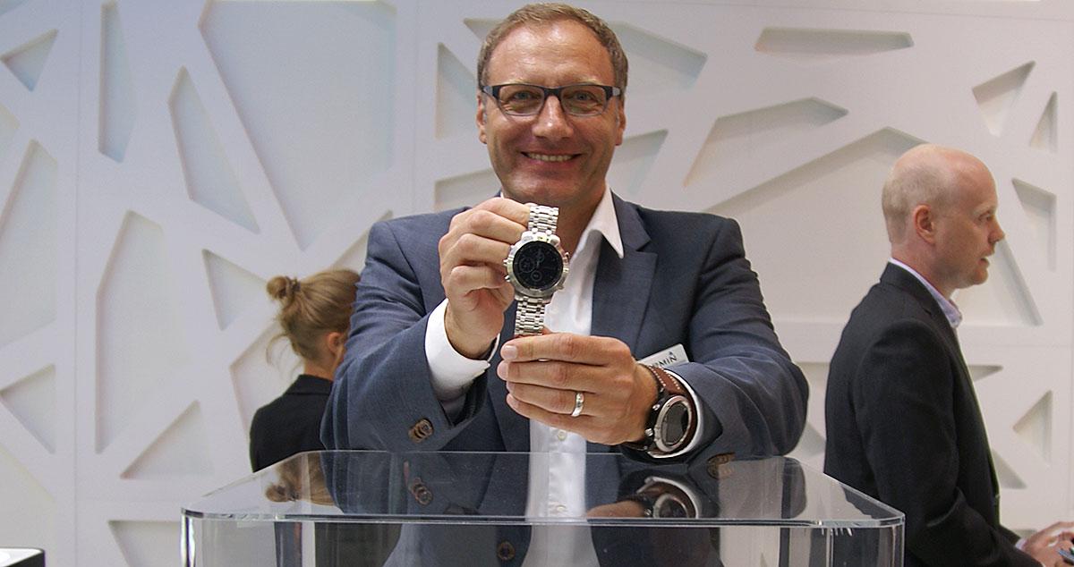 1000 Euro Plus im Fokus: Kai Tutschke, Deutschland-Chef von Garmin, hat den Juwelier als wichtigen Vertriebskanal im Fokus.