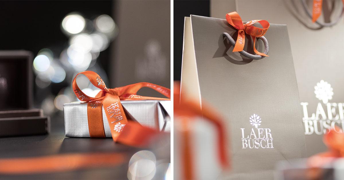 ... bis hin zur Geschenkverpackung und -schleife. So tritt ein Juwelier professionell auf.