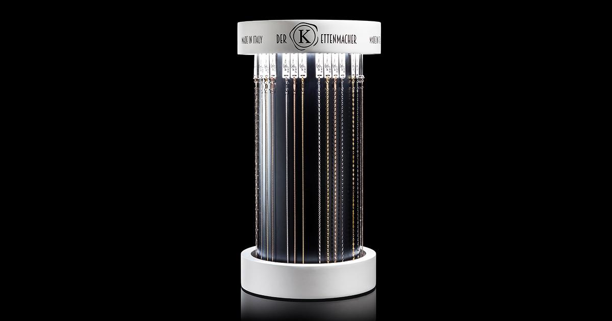 """Damit das gelingt, startet die Kärntner Vertriebsfirma Time Mode mit einem für das wichtige Basicsegment Kette neuartigen System, das sich perfekt im Geschäft integrieren lässt und dabei auch noch gut aussieht: """"Der Kettenmacher""""."""