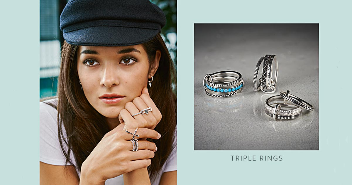 Cool, lässig und absolut trendy: Die Triple Rings von Thomas Sabo sind der absolute Geheimtipp für die neue Saison.