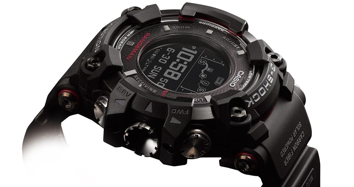 Die G-Shock Rangeman GPR-B1000-1ER gilt laut Casio als weltweit erste Uhr mit solargesteuerter GPS-Navigation.