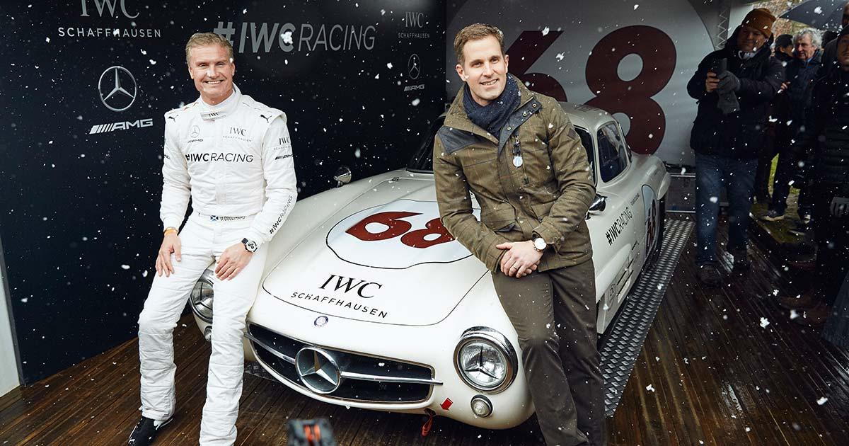 David Coulthard und Christoph Grainger-Herr, CEO IWC Schaffhausen