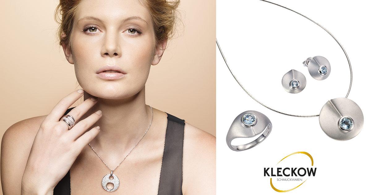 Die hauseigene Schmuckmarke Celesta umfasst modischen Schmuckstücke wie Ringe, Ohrschmuck und Halskette, die den individuellen Stil der Trägerin betonen.