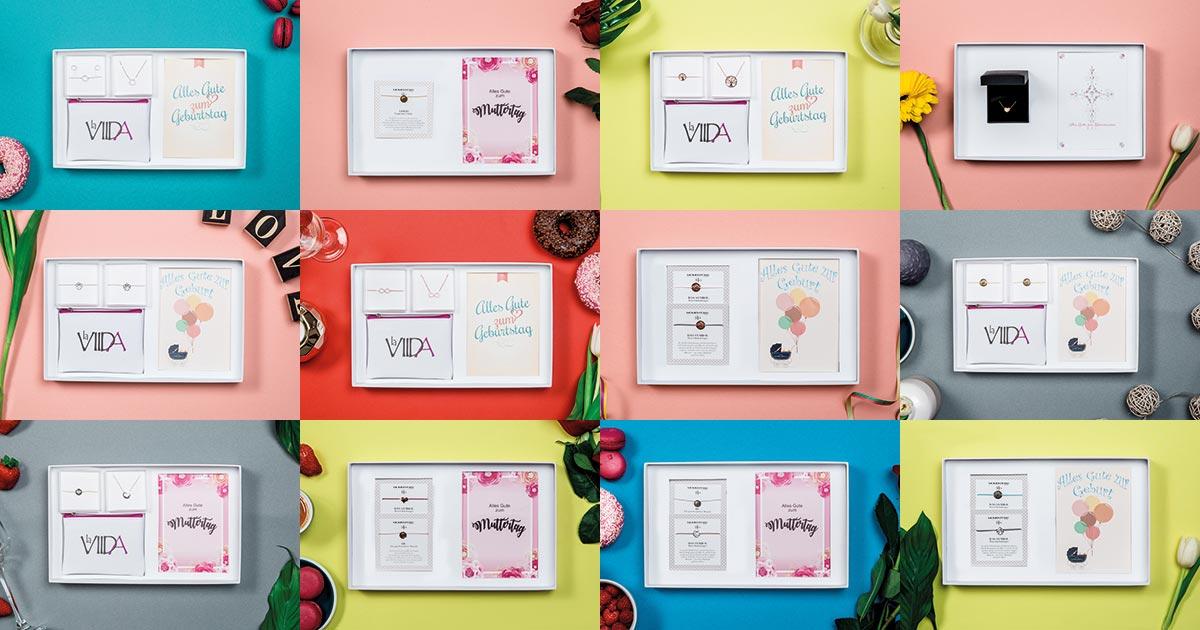 Für viele Anlässe erhältlich: Die neuen Geschenkboxen von Momentoss, Momentoss Bellissima und La Viida.