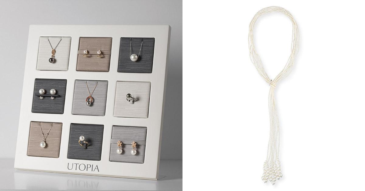Sowohl klassischen Perlenschmuck als auch exklusive Kreationen bietet das Utopia-Portfolio an.