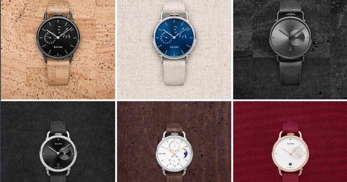 So sehen die Zeitmesser der neuen Uhrenmarke Baume aus.