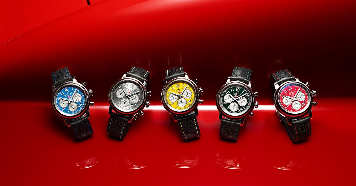 Die Mille Miglia Classic Chronograph Racing Colours Edition Ist erhältlich in fünf limitierten Auflagen mit je 300 Exemplaren aus Edelstahl.