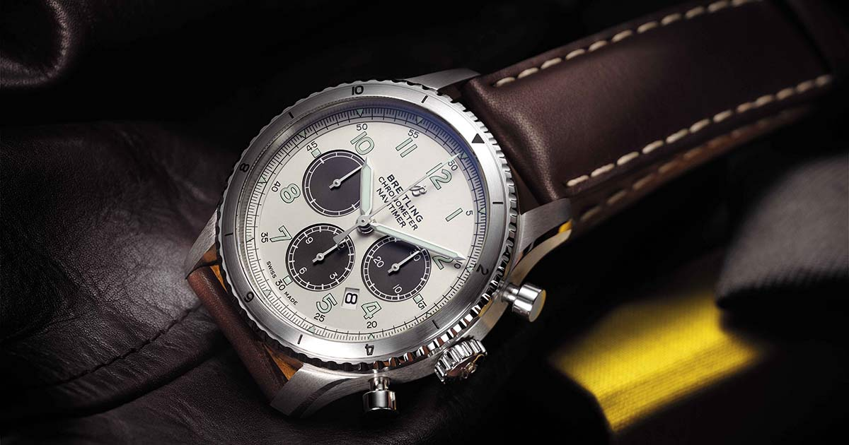 Der Breitling Navitimer Aviator 8 B 01 Chronograph 43 Limited Edition ist das erste Modell, das es auf Mr Porter online zu kaufen geben wird. Insgesamt werden es 31.