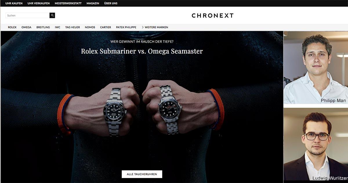 Philipp Man (o.) und Ludwig Wurlitzer (u.) sind die Köpfe hinter der Online-Plattform Chronext.