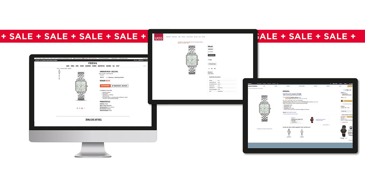 Rabatte auf Amazon überraschen heute kaum mehr. Aber im markeneigenen Online-Shop sind sie schwere Kost für den Fachhandel. Die Wahrscheinlichkeit, dass jemand beim Juwelier eine Uhr kauft, die er Online um knapp 40 Euro billiger haben kann, ist doch eher gering.
