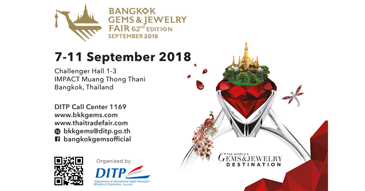 Die Bangkok Gems & Jewelry Fair geht vom 7. bis 11. September in die zweite Runde.
