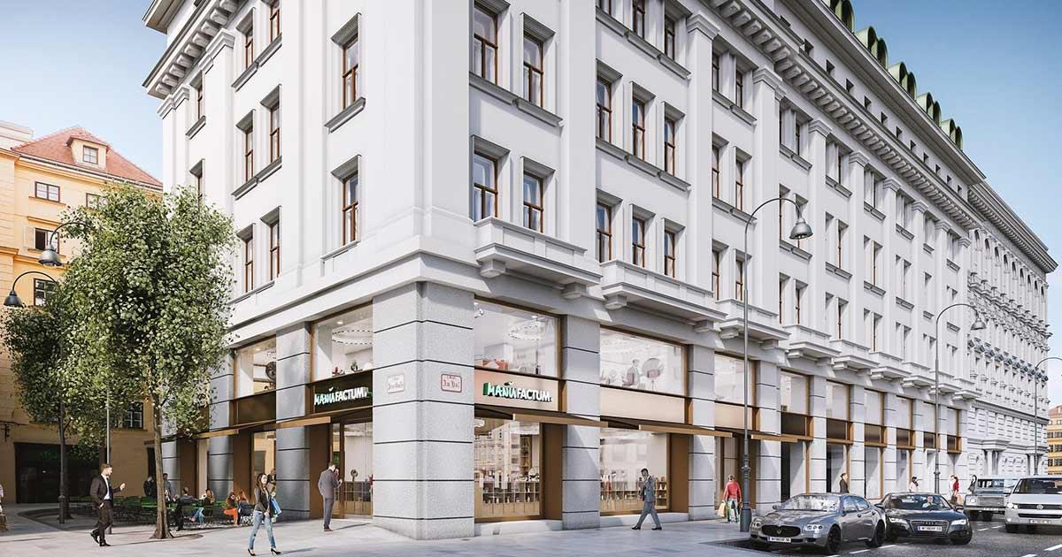 Digitales Rendering der ersten Manufactum Österreich Niederlassung in Wien. © Manufactum