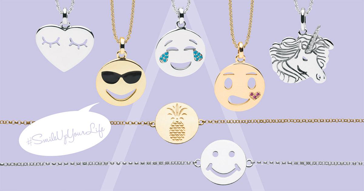 Emoji-Schmuck von Nana Kay macht Spaß und sorgt für frische Impulse.