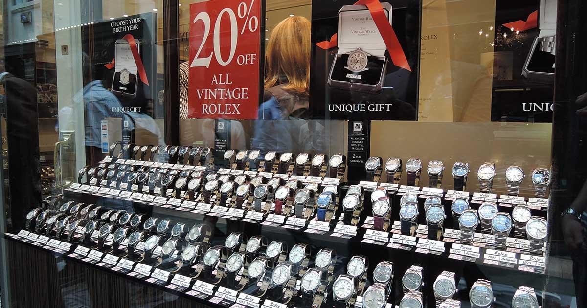 Mit Vintage gutes Geld machen ... einige haben das schon erkannt. Jetzt ziehen auch die Marken nach. Foto: Bond Street London