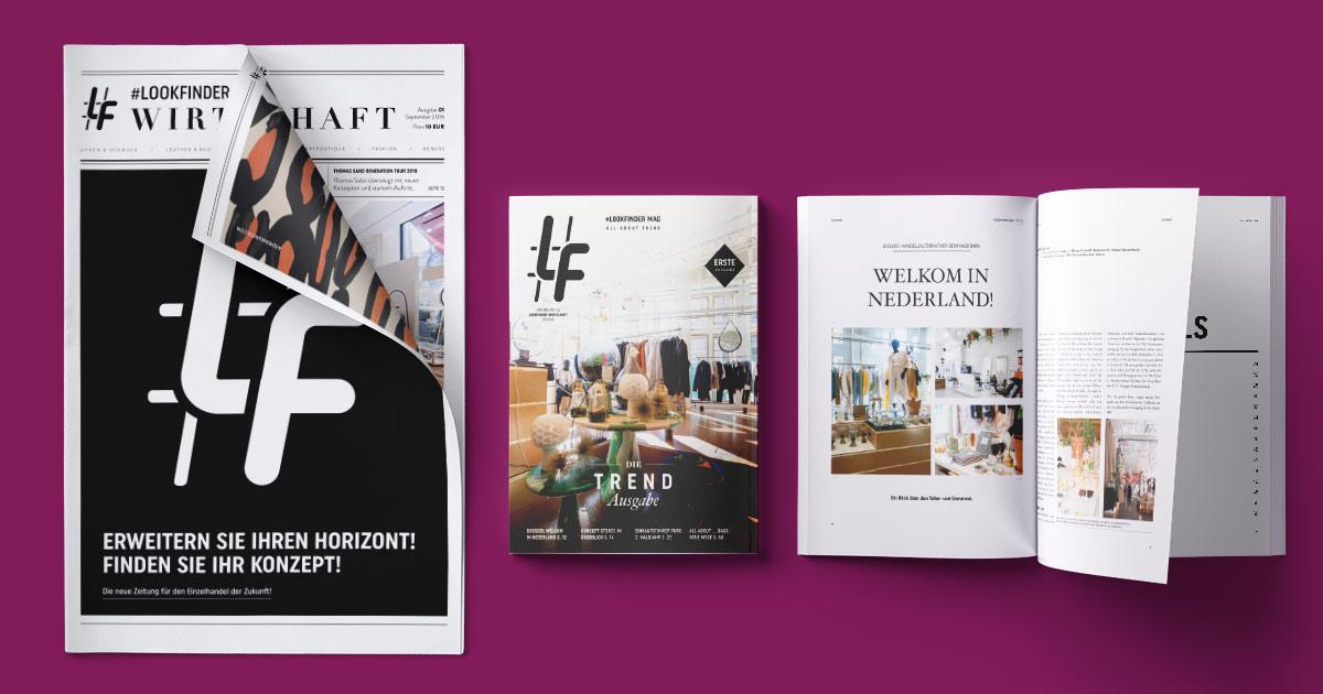 Die neue Zeitung #Lookfinder Wirtschaft und das neue Magazin #Lookfinder (dieses Mal zum Thema Trends) finden Sie bald in Ihrem Postkasten!