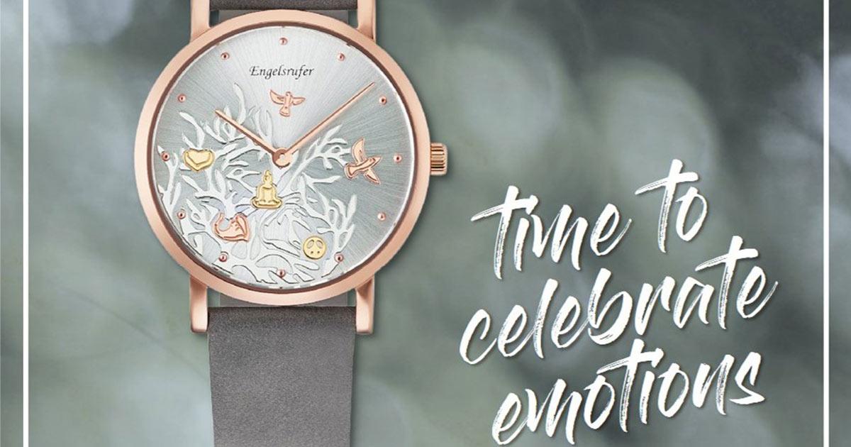 Als Ergänzung zum Schmuck kommen im Oktober eine Engelsrufer-Uhren.