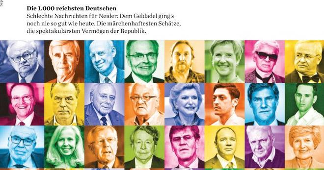 Sechs Schmuck-Familien sind in der Liste der 1.000 reichsten Deutschen zu finden, die das Wirtschaftsmagazin Bilanz herausgebracht hat.