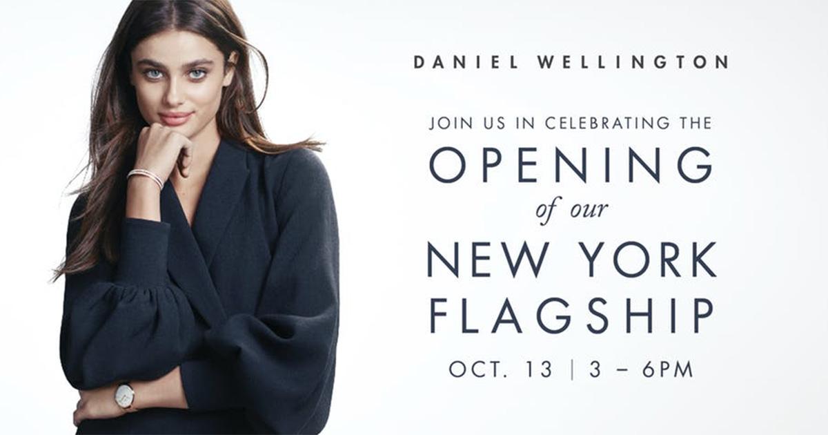 Daniel Wellington eröffnete in New York einen Flagship Store.