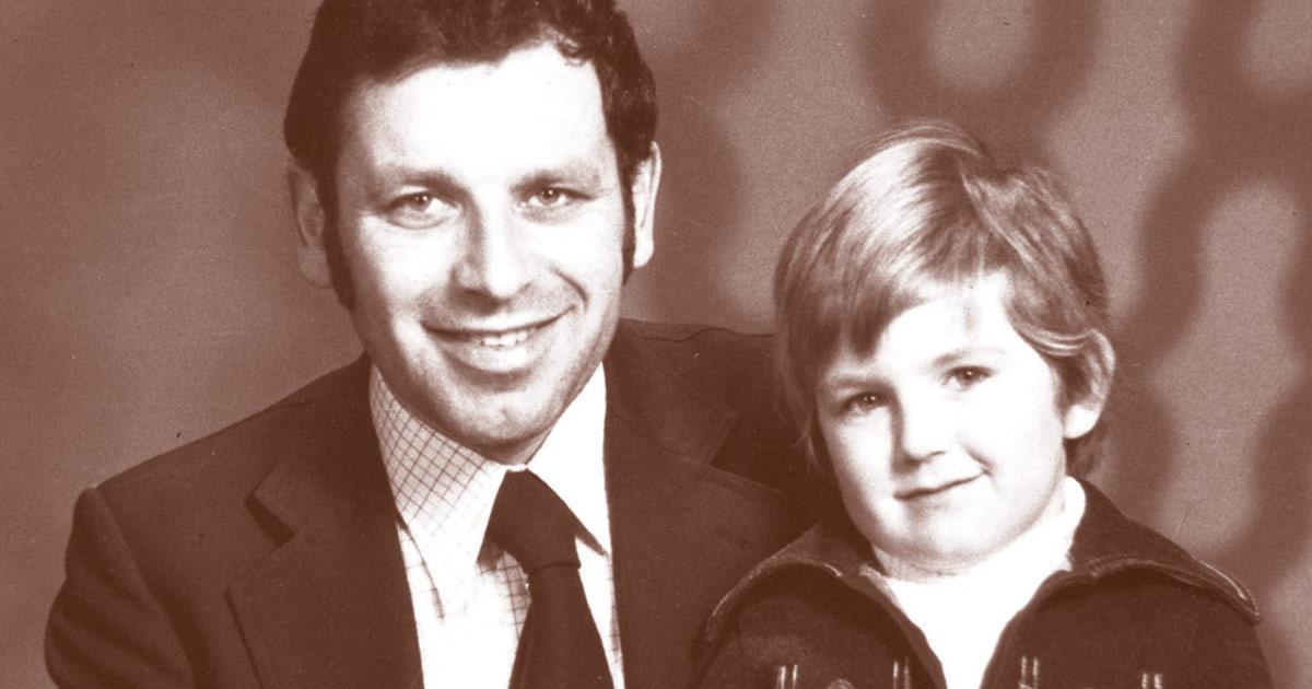Der verstorbene Firmengründer Heinz Gellner mit Sohn.