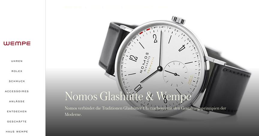 Wieder dabei: Nomos und Wempe arbeiten wieder zusammen.