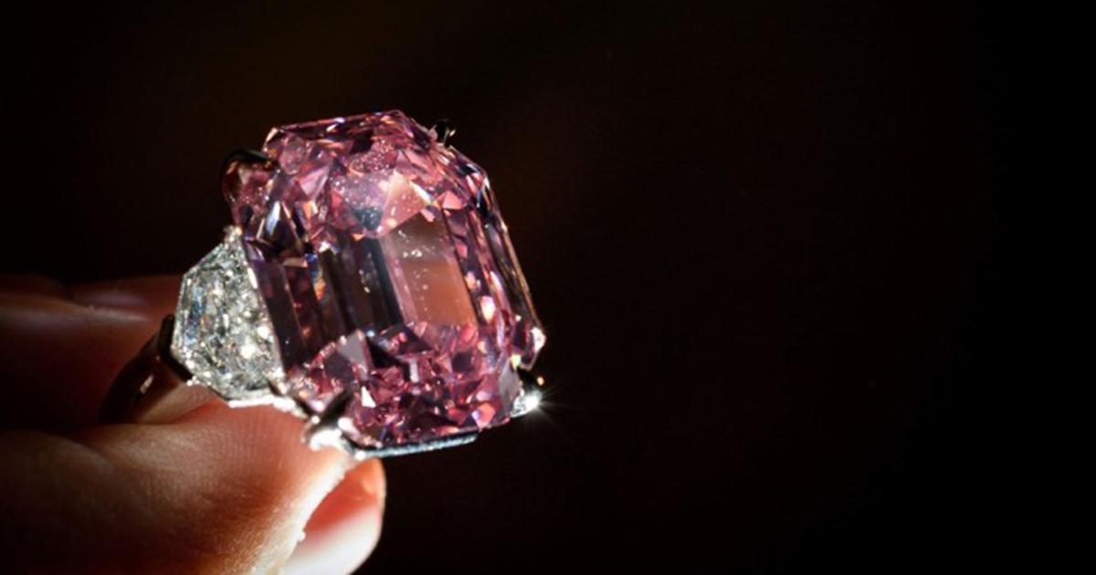 Der pinkfarbene Diamant kam für 39,1 Mio. Euro bei einer Christie's-Auktion unter den Hammer. © Christie's