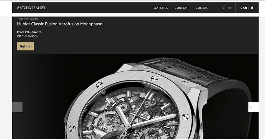 Watchdreamer soll Uhrenträume wahr werden lassen, zum Beispiel mit einer geliehenen Hublot für 211 Franken im Monat.
