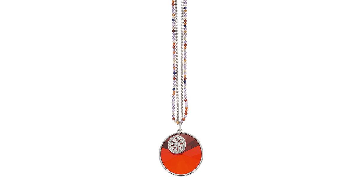 Die Kette Lavanda von Jewels by Leonardo verbreitet mit ihren warmen Orangetönen gute Laune.