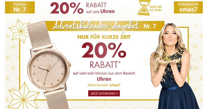 Karstadt und Kaufhof werben nun gemeinsam für Rabatt-Aktionen. Am 7. Dezember stand das Uhrensortiment im Fokus.