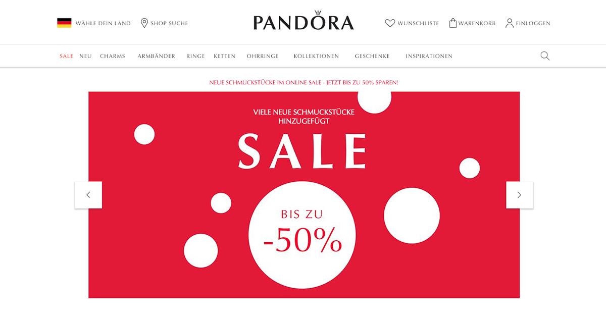 Enttäuschende Quartalszahlen beim dänischen Schmuckunternehmen Pandora.