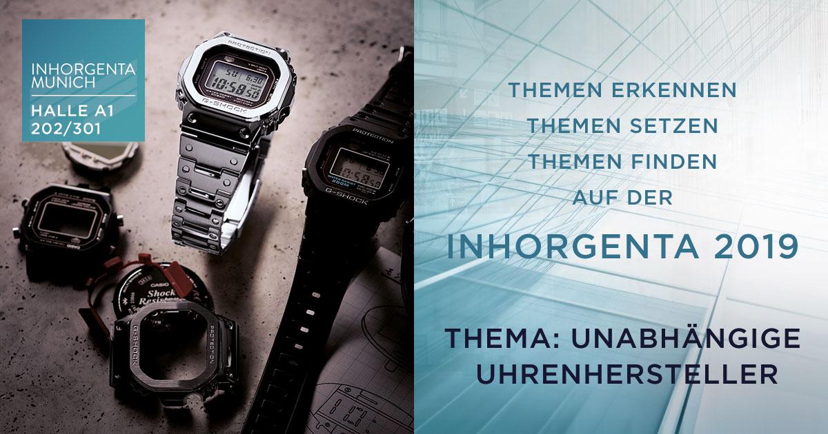 Casio gilt als Inhorgenta-Fixstarter ... auch in diesem Jahr wieder mit dabei: Halle A1, Stand 202/301