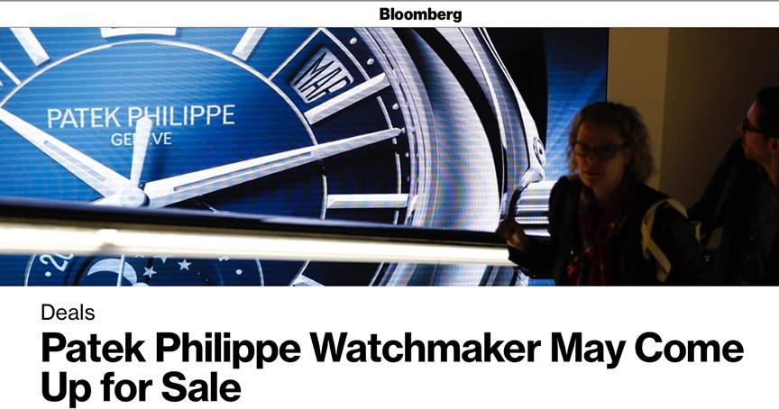 Sorgt für Gesprächsstoff: Der Nachrichtendienst Bloomberg berichtet von einem Verkaufsgerücht um Patek Philippe.