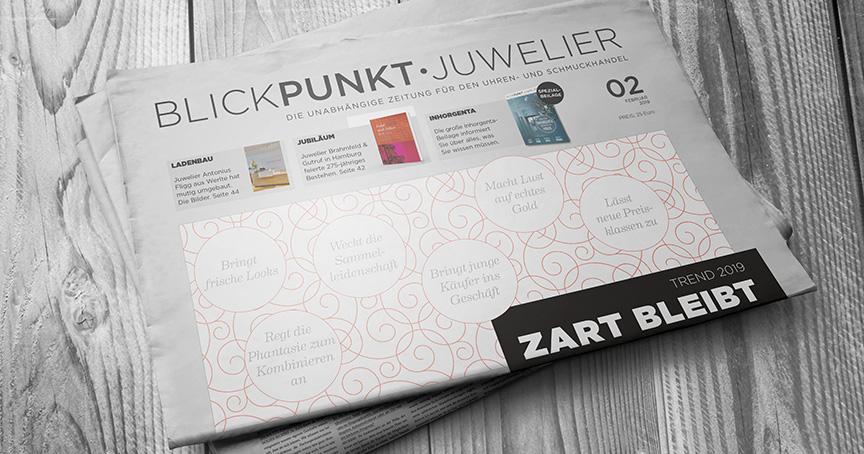 Neue Ausgabe von Blickpunkt Juwelier mit einer Inhorgenta-Beilage