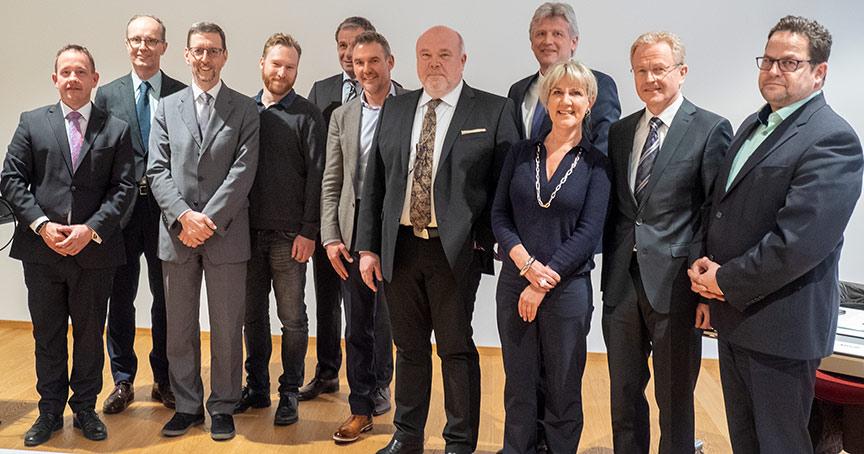 Der neue Vorstand des Bundesverbands Schmuck und Uhren.