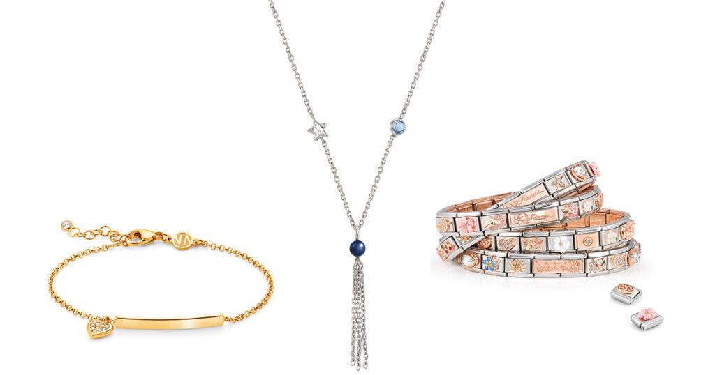 vlnr: Gioia ID-Armband, Bella-Collier, Composables-Armbänder