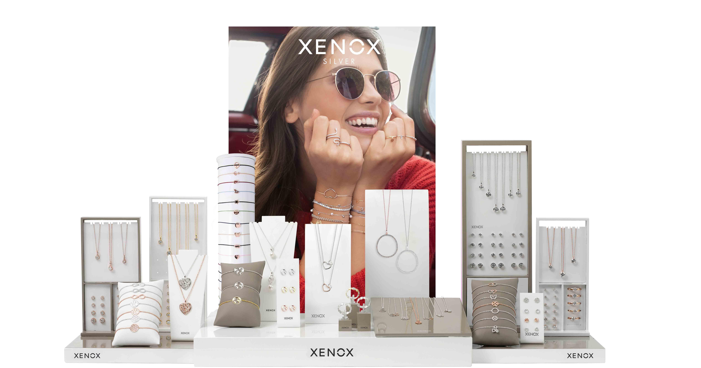 Weckt Begehrlichkeiten: Das Xenox Silver-Display inszeniert die Produkte emotional.