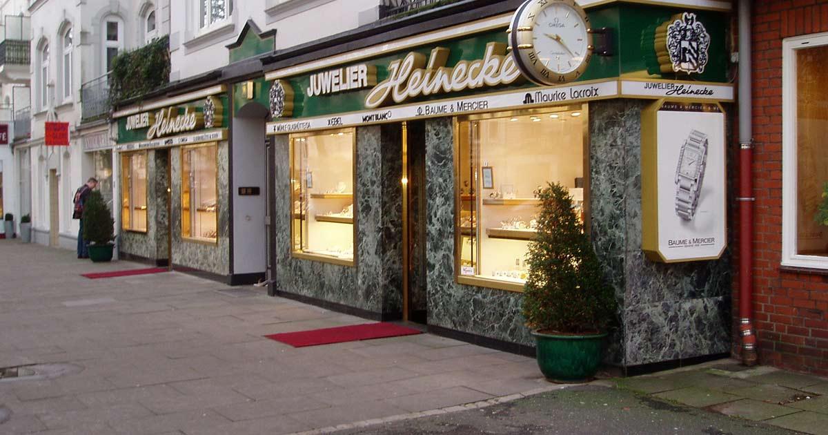 Juwelier Heinecke in Hamburg.