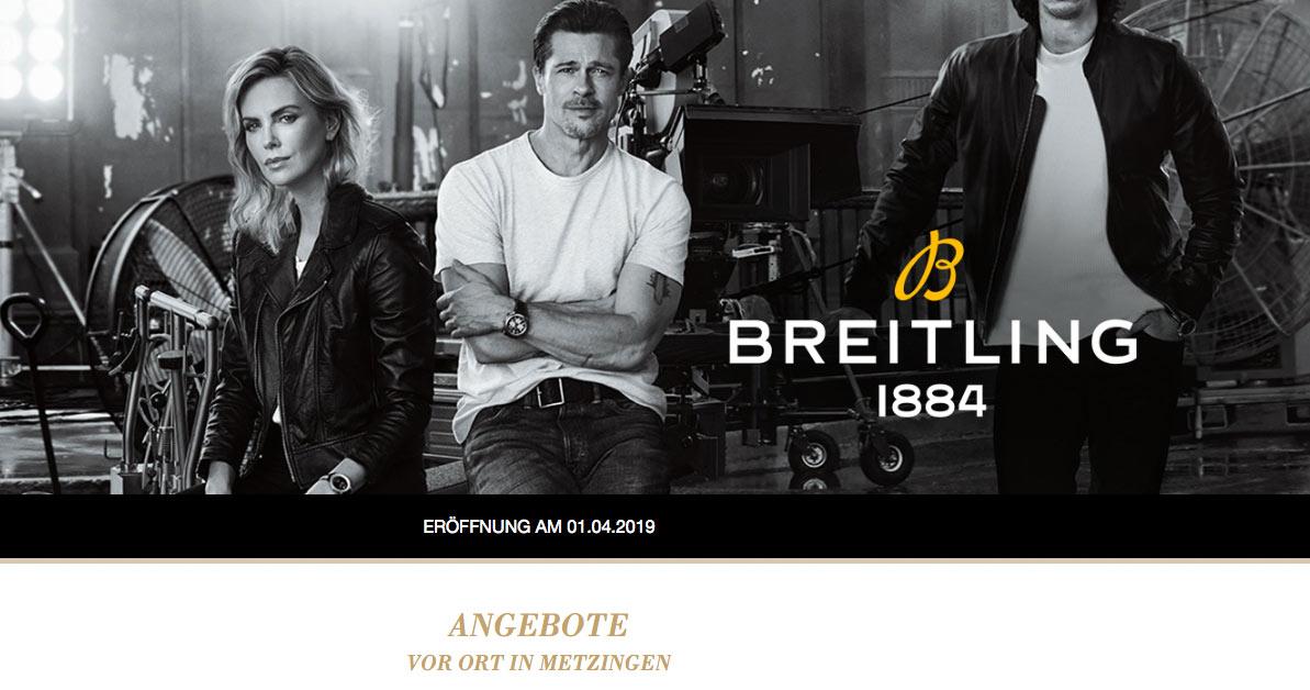 Eröffnet im April: Breitling verkauft künftig im Outlet-Center Metzingen.