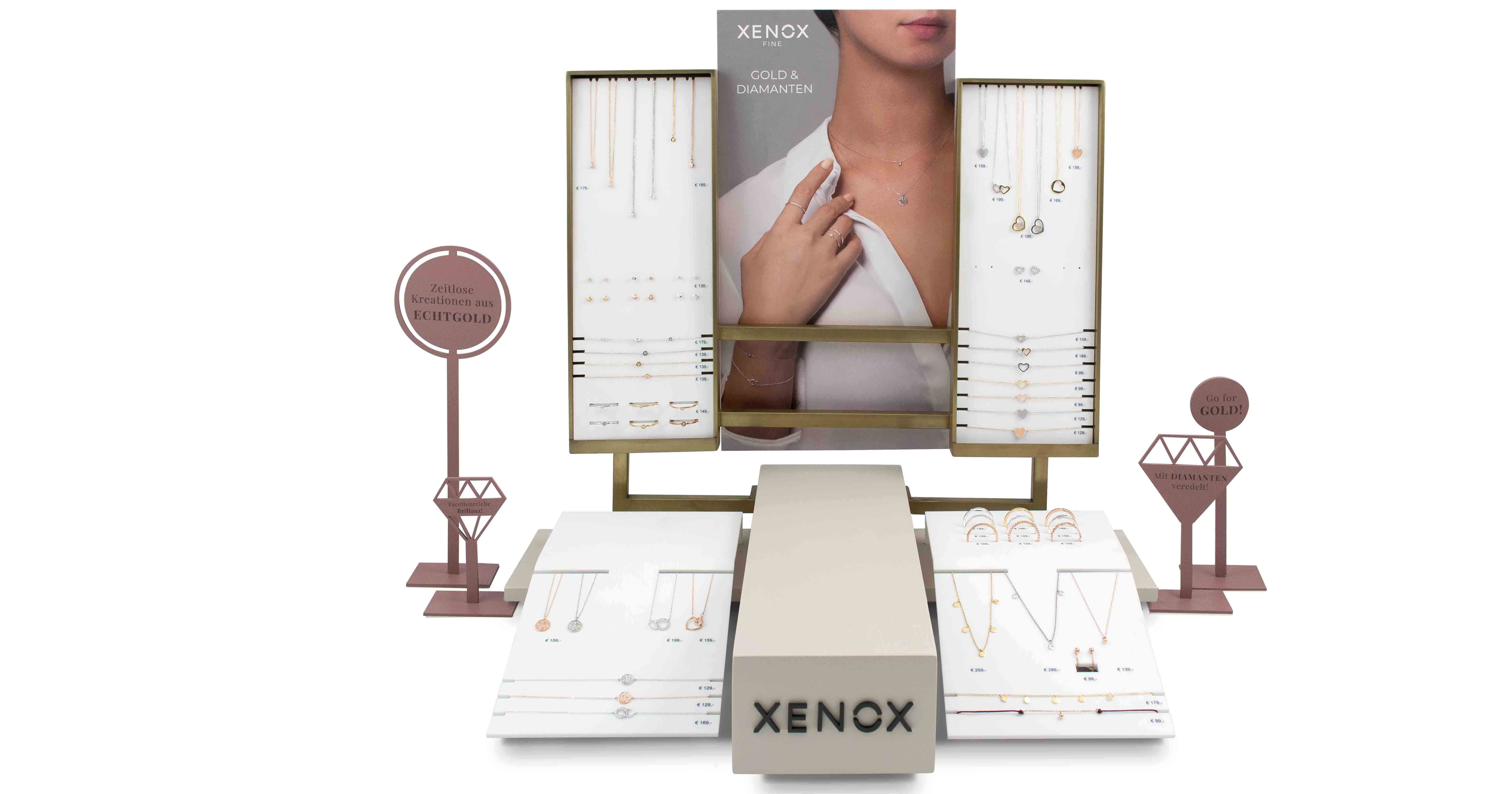 Wird ausgebaut: Die 9 Karat Goldkollektion von Xenox wird erweitert.