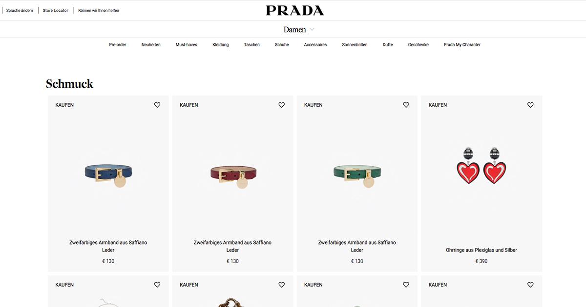 Bislang gibt es von Prada nur Modeschmuck. Nun soll eine 18kt-Echtschmuck-Kollektion folgen.