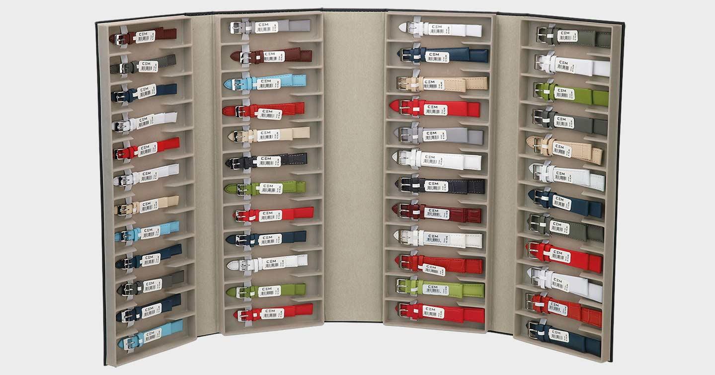 Die CEM Lederbänder gibt es zum Sortimentspreis von UP 228 Euro – das sind 4,75 Euro pro Band.