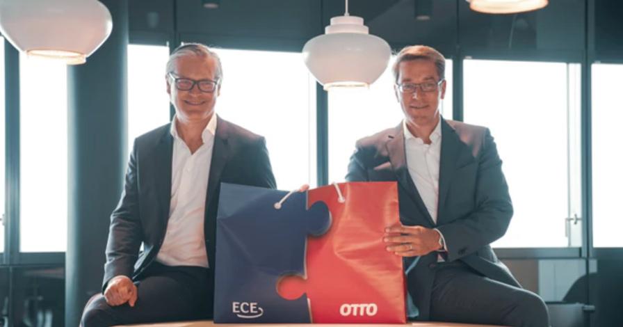 ECE-Chef Alexander Otto (li.) und Otto-Chef Alexander Birken. ECE und Otto vernetzen Einkaufswelten. (Foto: Otto)