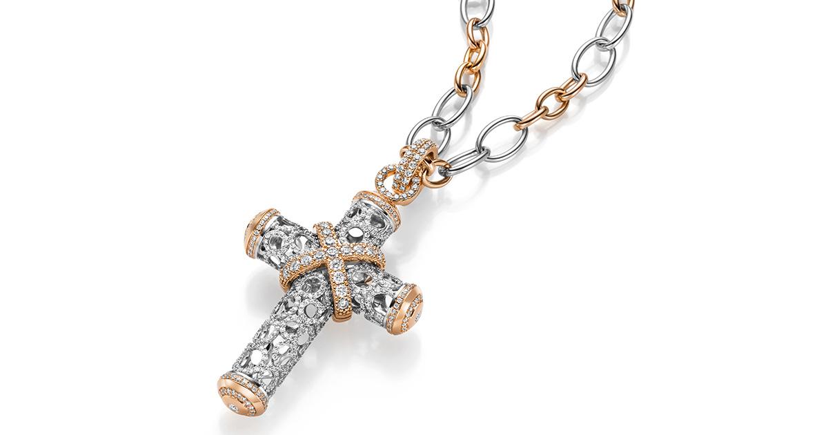 Das zeitlose und prachtvolle Kreuz ist das wohl bekannteste Schmuckstück der Manufaktur Leo Wittwer.
