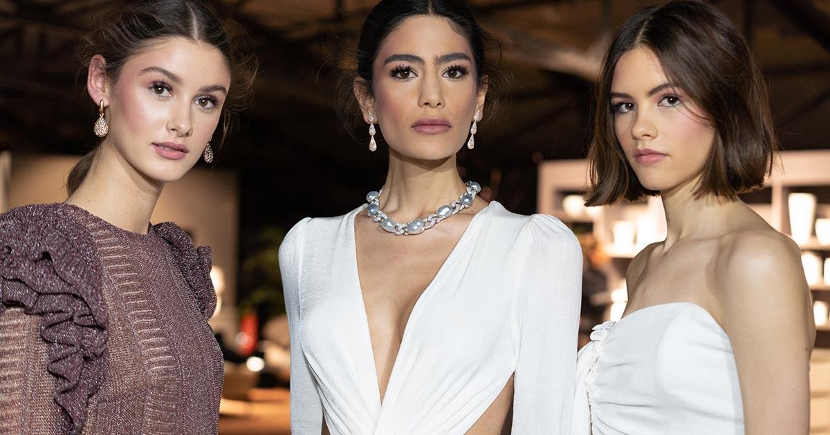 Models mit der neuen Kollektion von Lana Mueller und Juwelen von Juwelier Leicht.